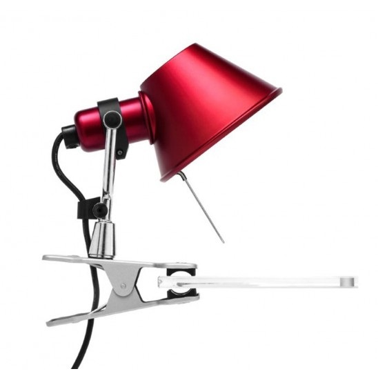 Tolomeo Micro Halogen Klemme 1x46w E14 - rot