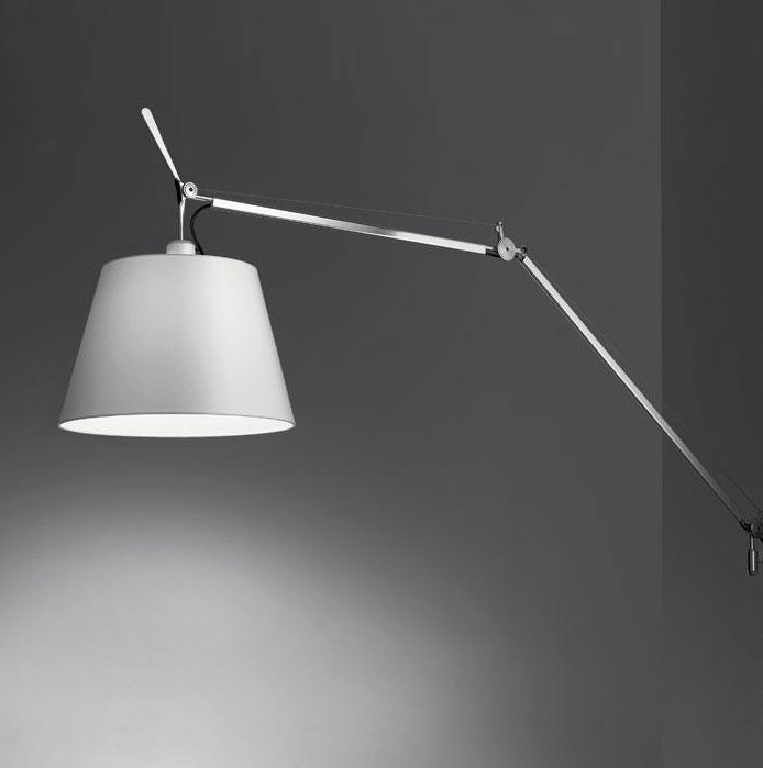 Tolomeo Mega (solo Structure) with intensity regulator en cable - Aluminium