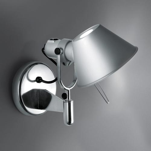 Tolomeo Faretto Wall Lamp LED without switch Polished Alluminium