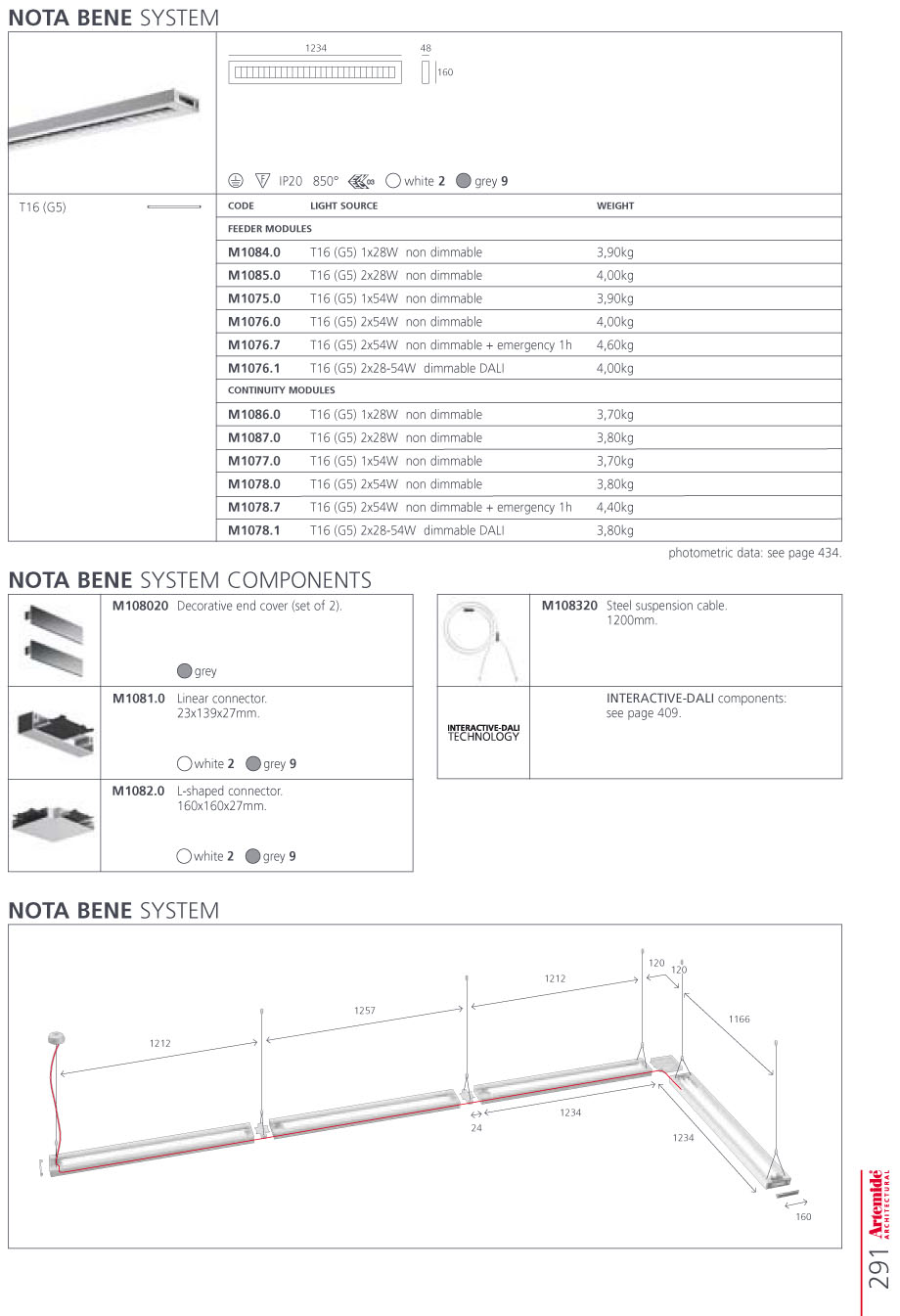 Nota Bene Accesorio Sistema Conector Lineal blanco