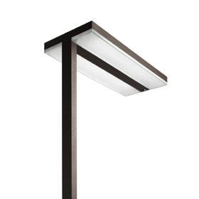 chocolate lámpara of Floor Lamp T16 G5 4x24w detector of presencia Moka