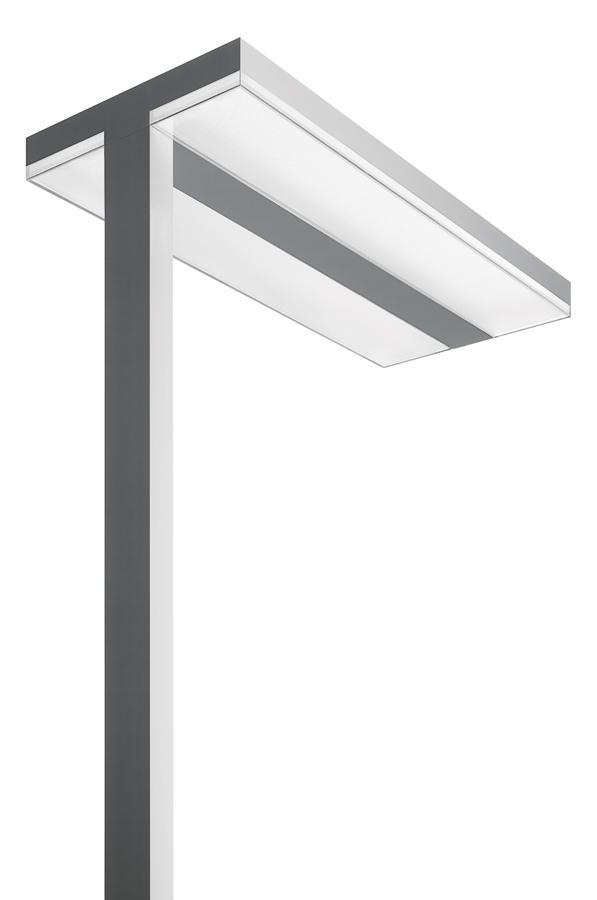 chocolate lámpara of Floor Lamp T16 G5 4x24w detector of presencia white