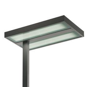 Kalifa lámpara of Floor Lamp Comfort tija lateral TC L 2G11 4x55w detector of presencia Grey