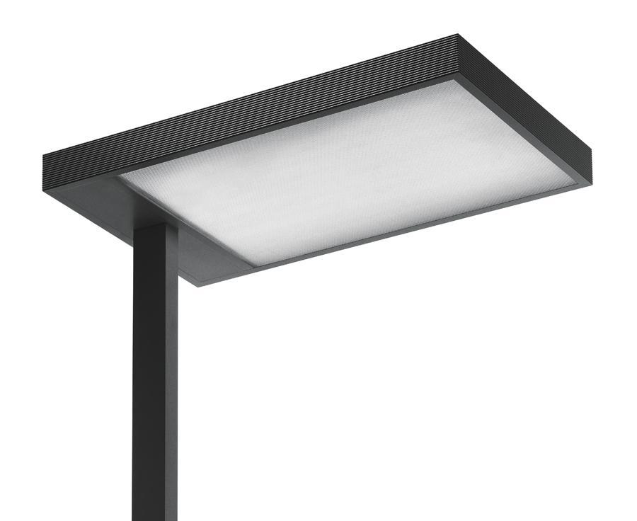 Kalifa lámpara de Pie Prismoptic Isolux TC L 2G11 4x55w regulador interactivo dali gris