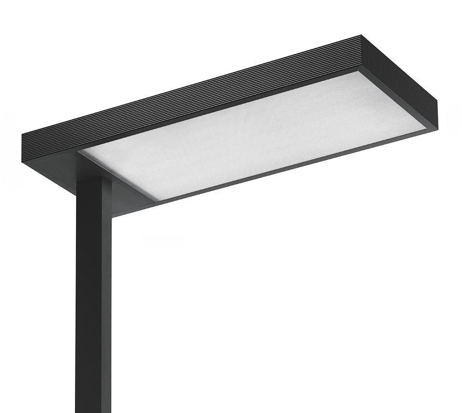 Kalifa lámpara de Pie Prismoptic 3 tija lateral TC LEL 2G11 2x80W regulable blanco
