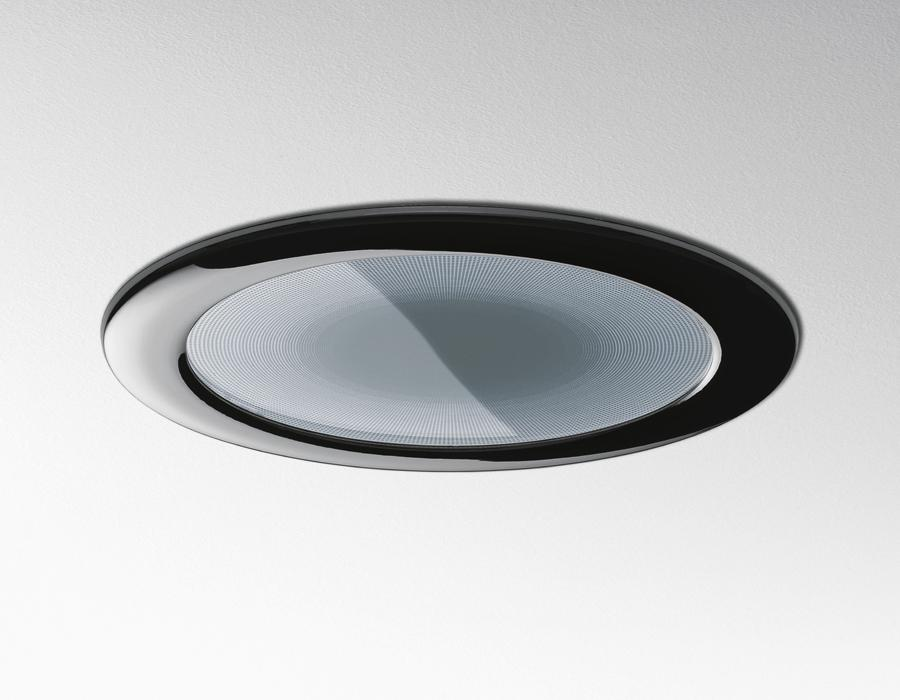 Luceri 220 Downlight Recessed TC-DEL 2x18w + emergency with frontal of Plástico + Glass serigrafiado Grey