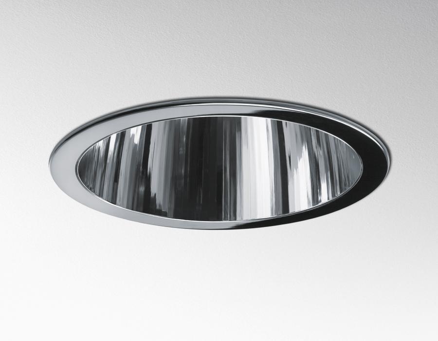 Luceri 220 Downlight Reflector TC-DEL 2x26w + emergencia con frontal de Plástico + Cristal Transparente gris
