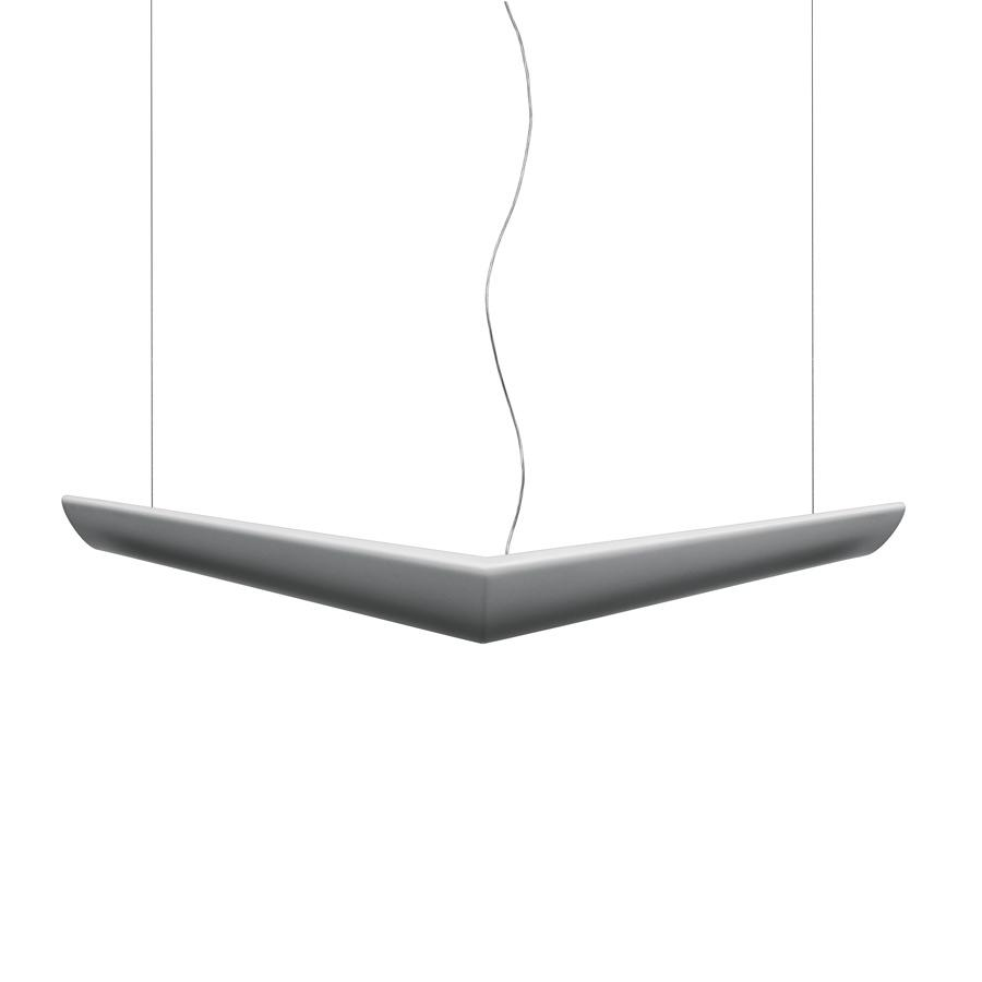 Mouette luminary Pendant Lamp symmetric T16 G5 4x24w no dimmable cable of 6m white opal