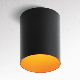 Tagora 270 Fluo TO TEL (GR14q 1) 2x14/17w regulable dali negro/Naranja