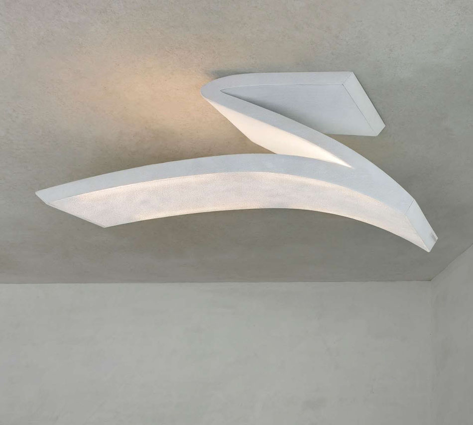 Spline ceiling lamp 150x40x50cm 4x24w G5 (FL) with intensity regulator of intensidad