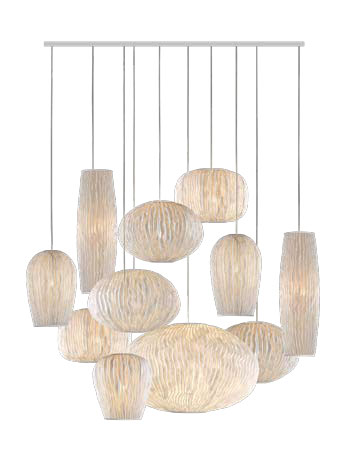 Coral Pendant Lamp composition 11 parts 135x135x250cm E27