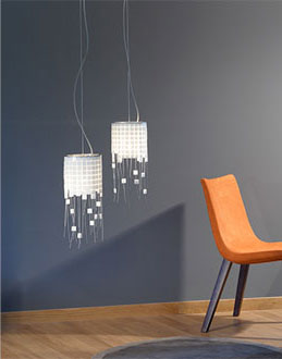 Gilda Pendant Lamp Small white / Gold 24K