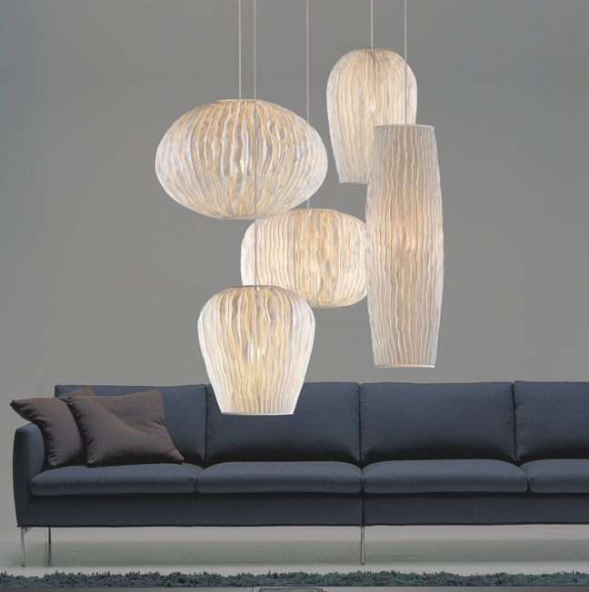 Coral Pendant Lamp composition 5 parts
