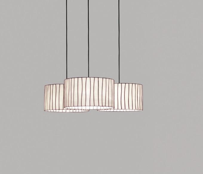 Curvas Pendant Lamp triple unida 60x250cm 100W