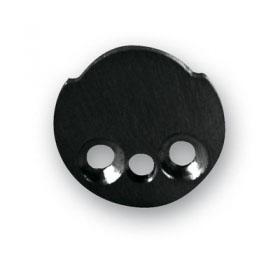 FLAT CAP Black ANOD.ALUM WITHOUT HOLE