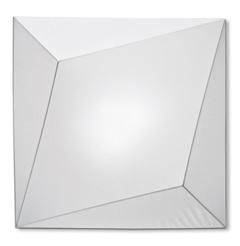 Ukiyo lâmpada do teto 110x110 branco/branco Incandescente