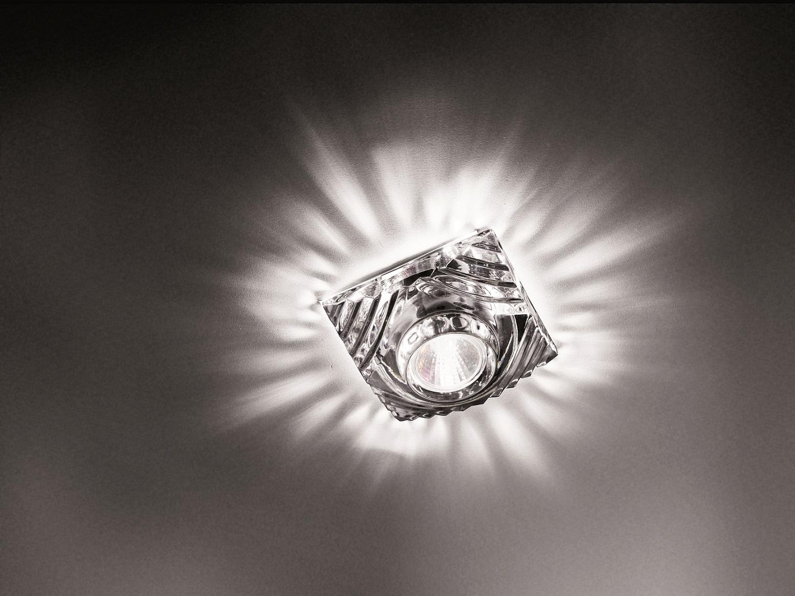 Crystal Spotlight Mencar 8cm Gy6.35 1x35w sin transformador Cristal de Bohemia