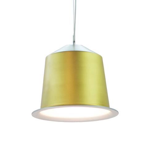Colors Light Cápsula of coffee Pendant Lamp Gold
