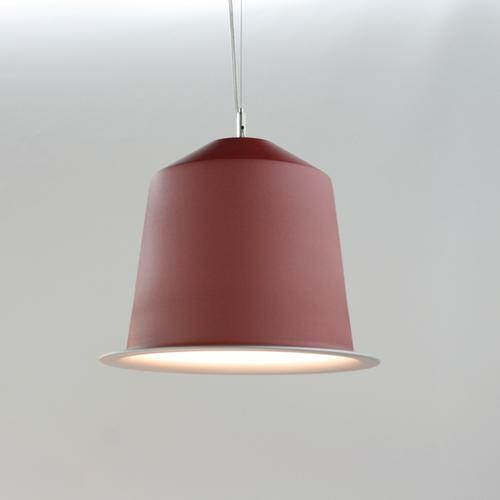 Colors Light Cápsula of coffee Pendant Lamp Red