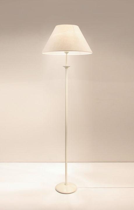 Riva F2 B Lámpara de Pie blanco pantalla lino blanca 1xE27 11W (LED) o 60W (HA)
