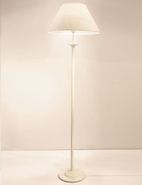 Riva F1 B Lámpara de Pie blanco pantalla lino blanca 1xE27 11W (LED) o 60W (HA)