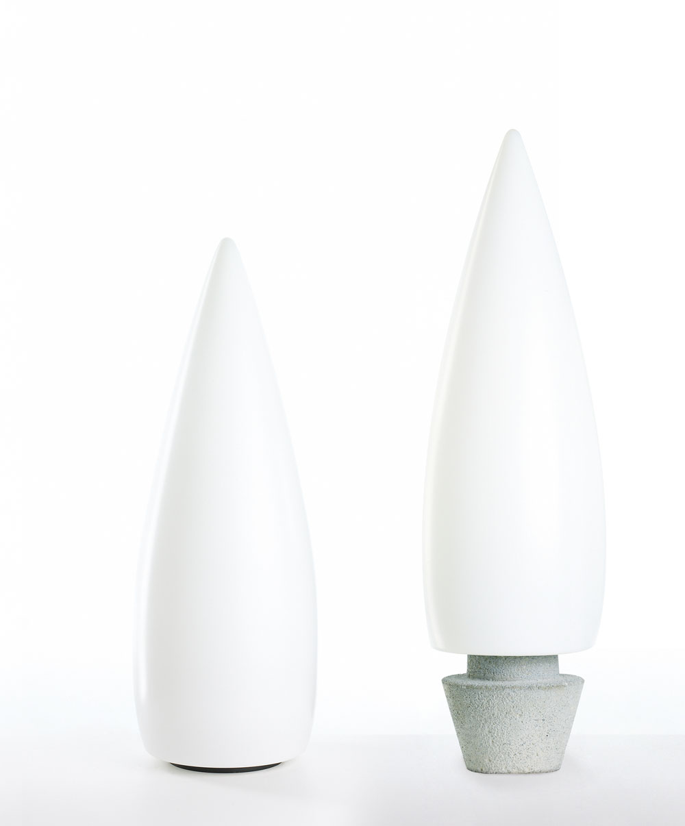 Kanpazar 150B Lampada da terra 2G11 2x55w - bianco opale