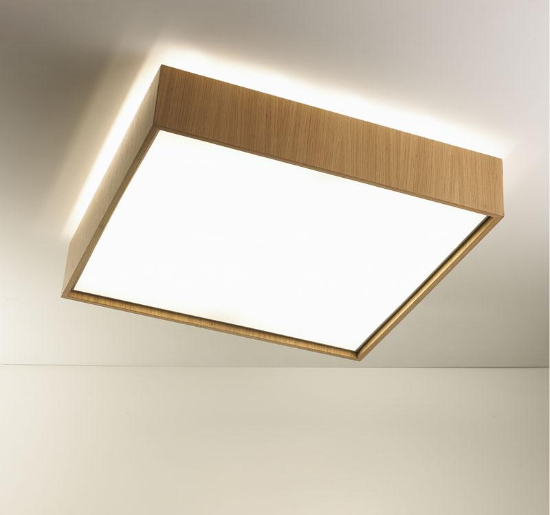 Quadrat 60x60 ceiling lamp 2G11 2x55w Wood Wengue