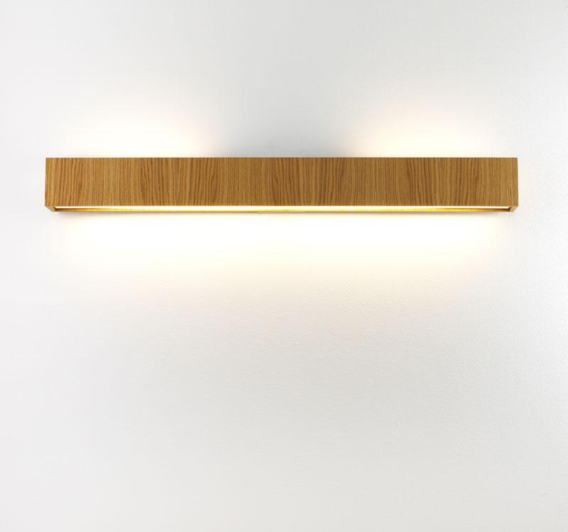 Quadrat 120x10 Wall Lamp 2G11 2x55w Wood Natural