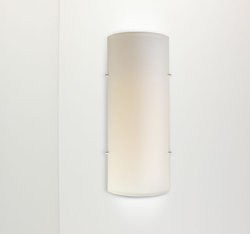 Dolce W1 Wall Lamp 2G11 1x36w fabric - White Crude