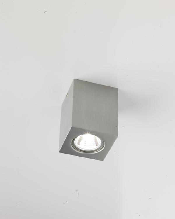 Miniblok C Plafón Halo MR8 G4 1x20w Aluminio Satinado luz blanca