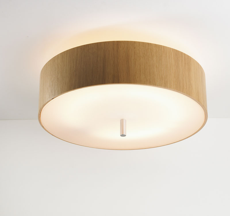 Ronda ceiling lamp 2Gx13 55w Wood oak Natural