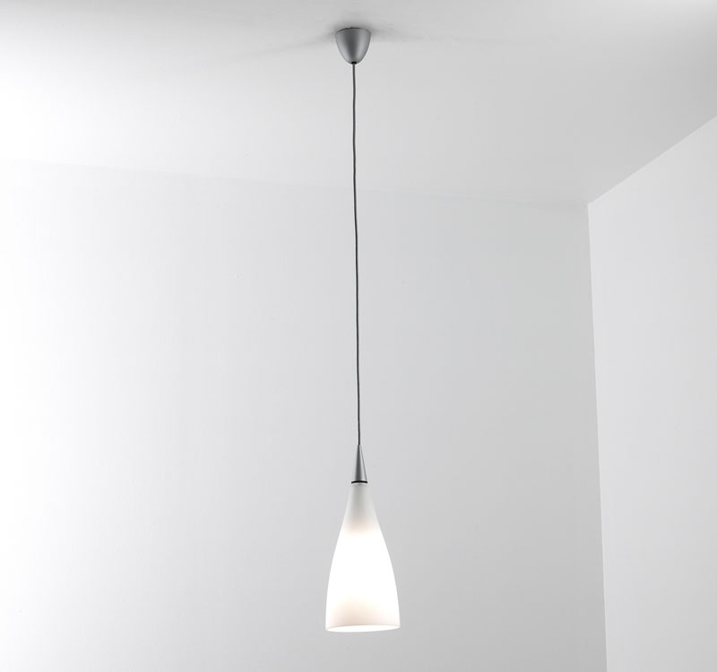 Nite 1 Pendant lamp E27 1x70w opal -White Glass