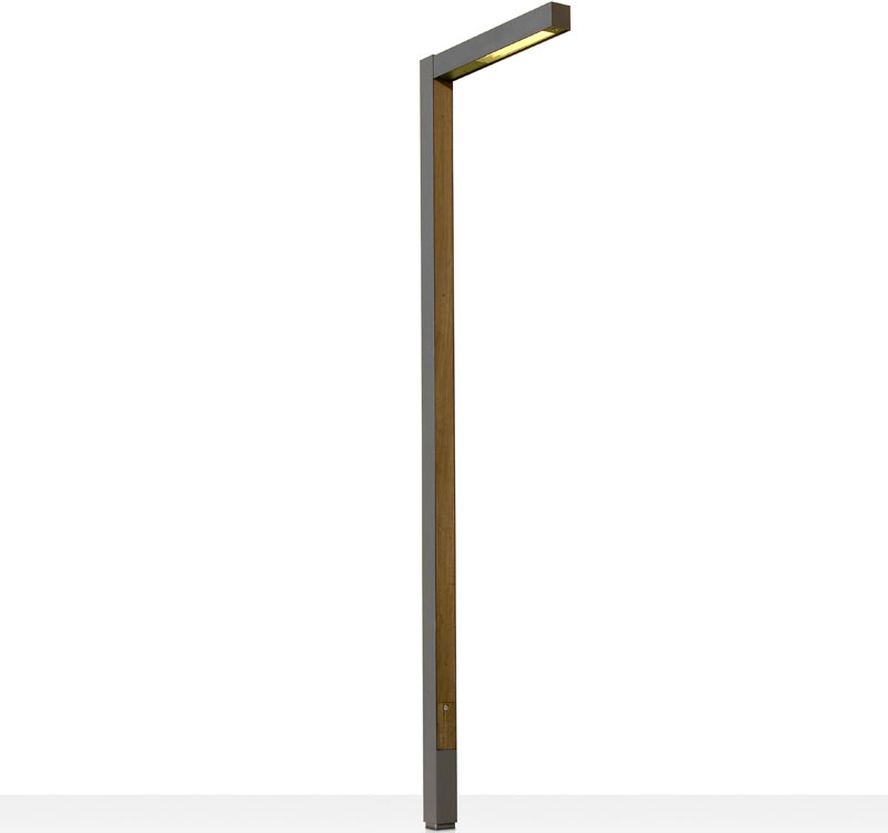 Zenete 300 1 Lamp post 2x2G11 36w metal and wood