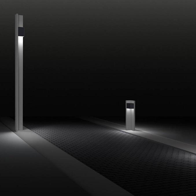 20/20 100 Baliza Exterior LED 17,5W 100cm - gris