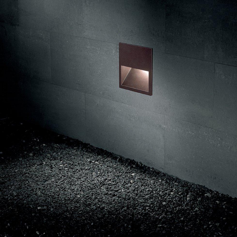 Lap WR20 Baliza exterior empotrable en pared Fluo. 10W (G24q-1) - Corten