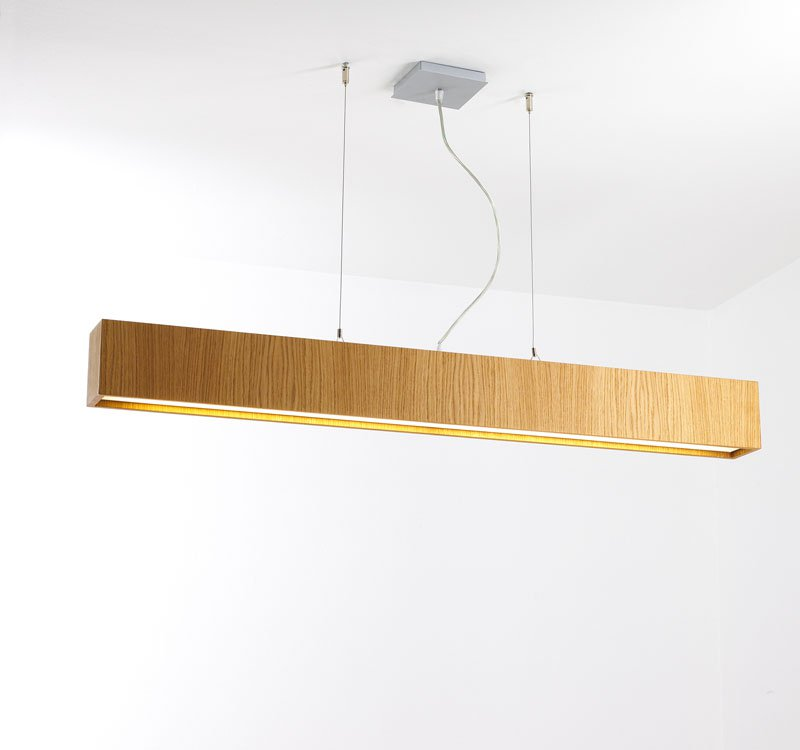 Quadrat 120x10 Pendant Lamp 2G11 2x55w Wood Natural