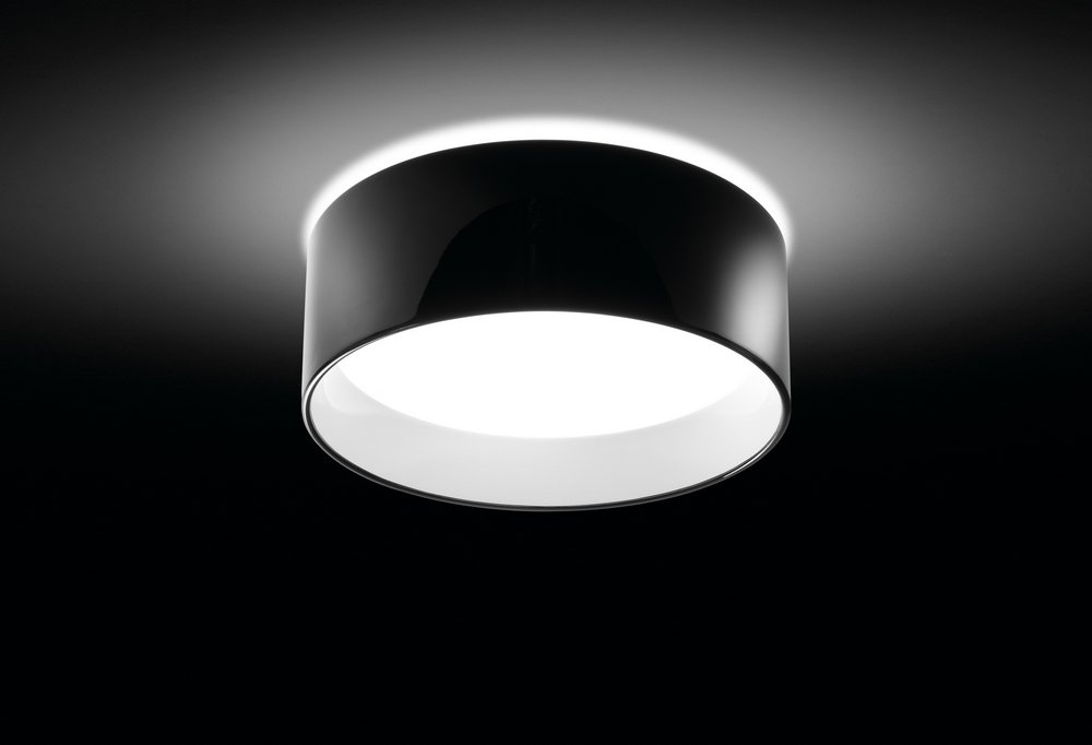 Cala ceiling lamp E27 22w Black Lacquered Shiny