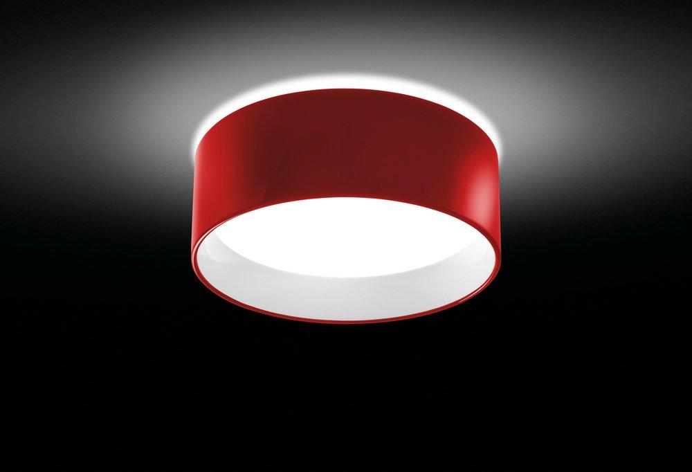 Cala Plafón E27 22w Rojo Lacado Brillante