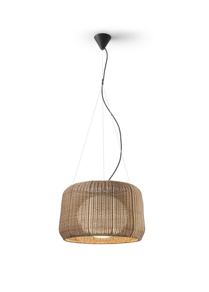 Fora - S (Solo Structure) Lamp Pendant Lamp Outdoor without lampshade E27 22w Brown