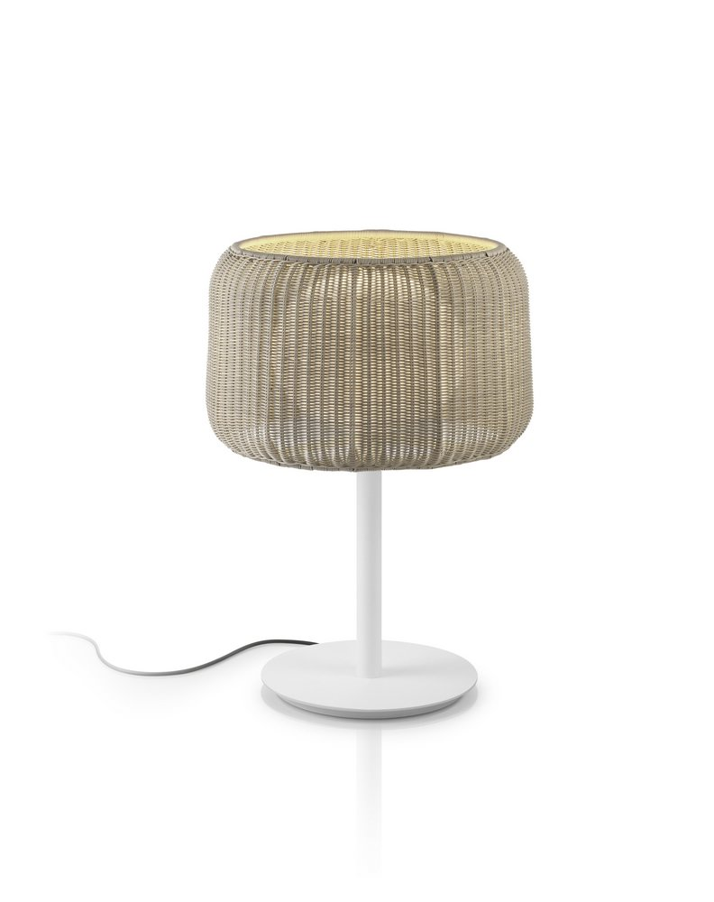 Fora - (Solo Structure) Table Lamp Outdoor without lampshade E27 30w white Roto