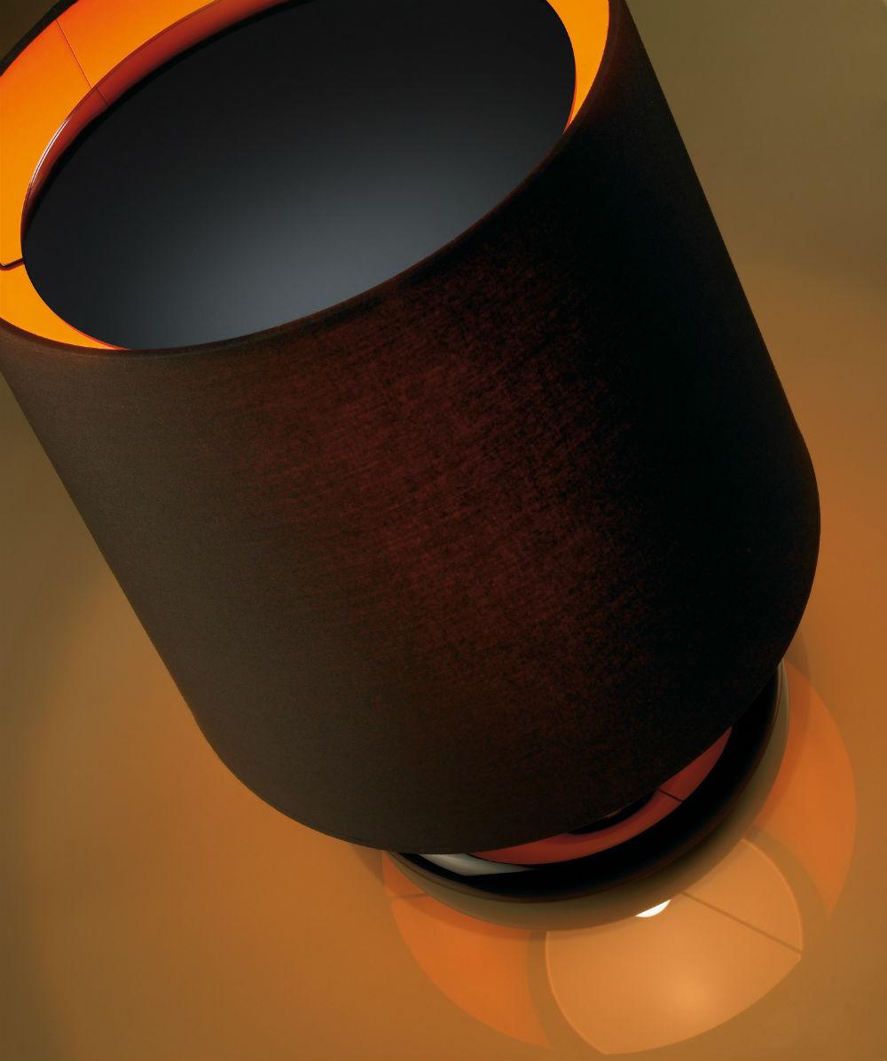 Onne (Solo Estructura) Sobremesa sin pantalla 77w E27 negro Lacado Brillante