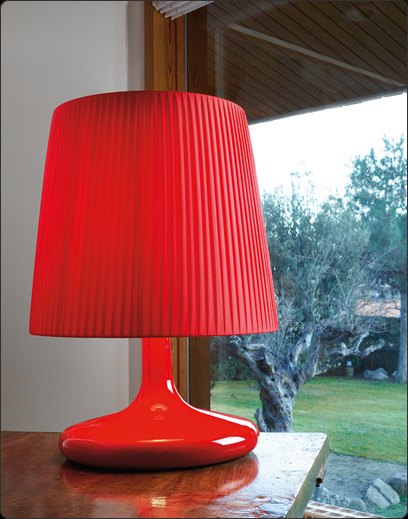 Onne (Solo Estructura) Sobremesa sin pantalla 77w E27 Rojo Lacado Brillante