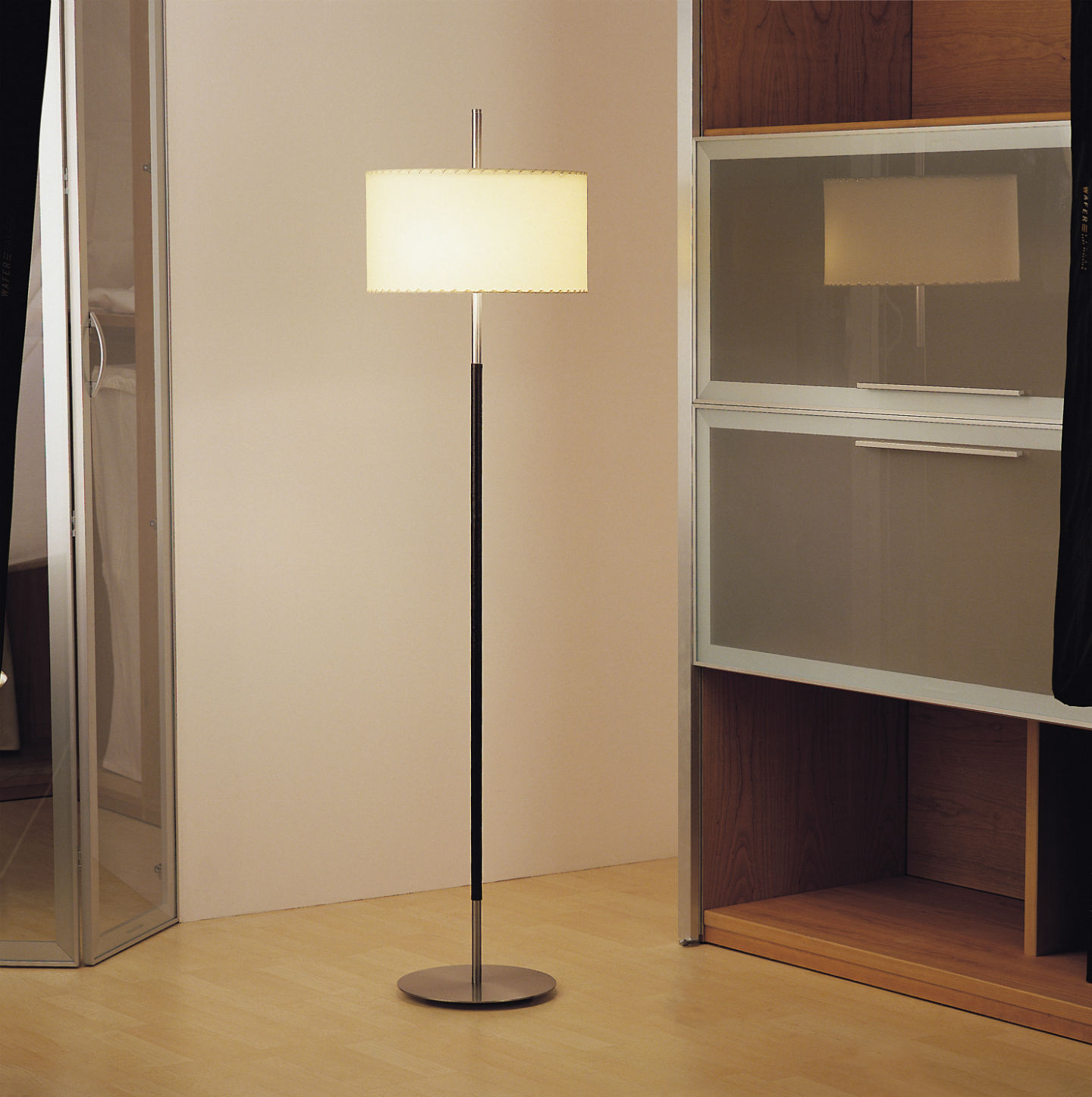 Danona (Solo Structure) Floor Lamp without lampshade E27 46w Níquel Satin