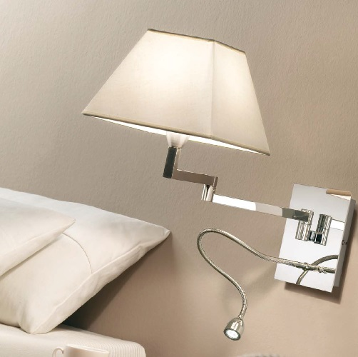 Carlota - G FL (Solo Structure) Wall Lamp without lampshade 33.5cm E27 46w Nickel Satin