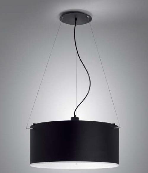 Club - S (Solo Estructura) Lámpara Colgante sin pantalla E27 57w negro mate-Níquel