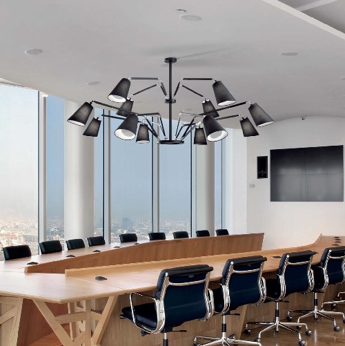Cornelia - 03 (Solo Structure) Lamp Pendant Lamp without lampshades E27 12x46w Black - Chrome