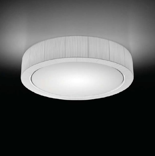 Urban - 37 ceiling lamp E27 46w Chrome-Cinta translucent white