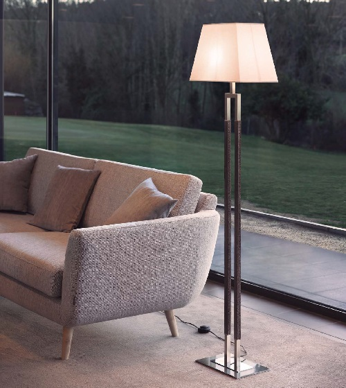 Ema - Floor Lamp (Solo Structure) Floor Lamp without lampshade E27 46w Ní­quel Satin