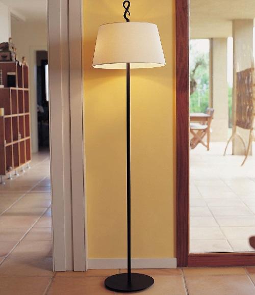 Ferrara - Pie (Solo Estructura) Lámpara de Pie sin pantalla E27 46w Hierro negro