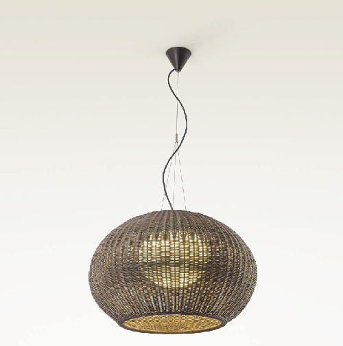 Garota - S 02 (Solo Structure) Lamp Pendant Lamp Outdoor without lampshade LED 22w Brown